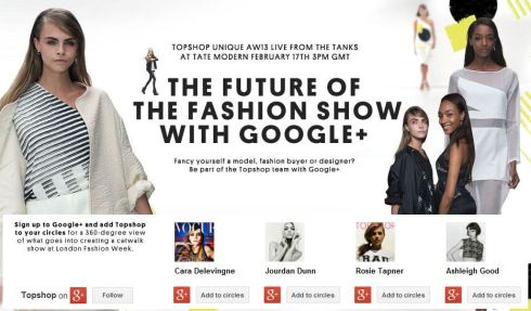 Topshop Google The Future of the Fashion Show