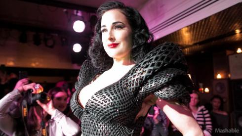 DitaVonTeese_Shapeways-3d-printed-dress