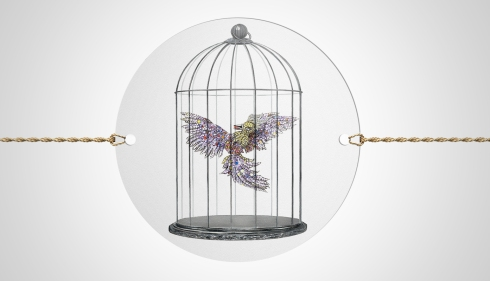 Fabergé Cinescope - Firebird in Cage