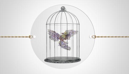 Fabergé Cinescope - Firebird in Cage